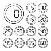 Set of icons stopwatch.