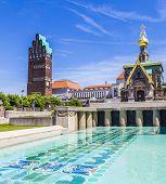 Mathildenhoehe In Darmstadt - Jugendstil - Art Nouveau - Germany - Five Finger Tower And Russian Cha