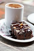 coffee with brownie