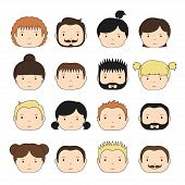 Set of colorful office people icons.