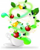 Cup With Fruit Spiral