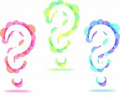 Colorful Circle Question Marks