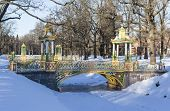 Chinese Bridge. Alexander Park. Town of Pushkin. (Tsarskoye Selo). Russia.