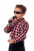 Boy In Sunglasses Singing