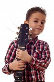 Boy Portrait With Guitar
