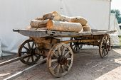 Russian cart with firewood