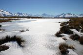 Pukaki Frozen Lake