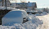Parked Snowbound Car