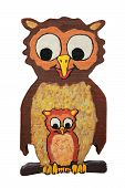 Mother Owl And Baby Owl, Wooden Puzzle