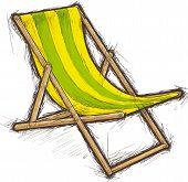 Striped beach chair