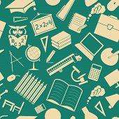 School background. Education. Seamless. Pattern.