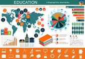 Education school infographics. Set elements for creating your own infographics.
