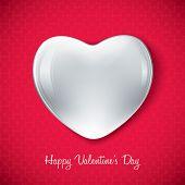 white valentine heart shape