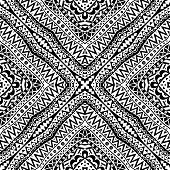 Black And White Seamless Tribal Pattern