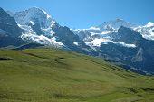 Jungfraujoch Pass In Alps In Switzerland