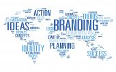Branding World Global Marketing Identity Individuality Concept