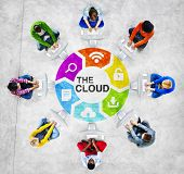 People Social Networking and the Cloud Concept