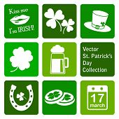 vector collection: st. patrick's day icons