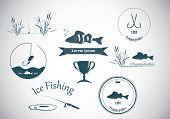 Fishing labels and design elements