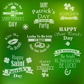 vector collection of saint patrick's day banners