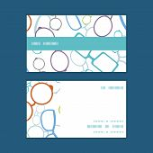 Vector colorful glasses horizontal stripe frame pattern business cards set