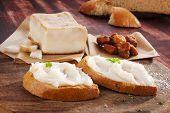 Bread With Lard Spread.