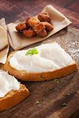 Bread With Lard And Pork Scratchings.