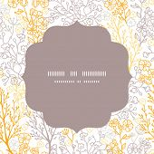 Vector magical floral circle frame seamless pattern background