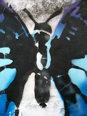 stencil graffiti butterfly body