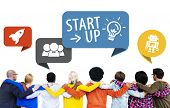 Start up Business Friendship Aspiration Challenge Community Concept