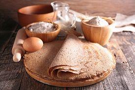 stock photo of buckwheat  - buckwheat crepe - JPG