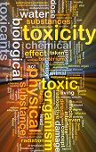 image of toxic substance  - Background concept wordcloud illustration of toxicity glowing light - JPG