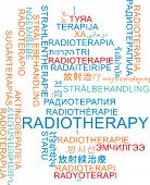 foto of radiation therapy  - Background concept wordcloud multilanguage international many language illustration of radiotherapy - JPG