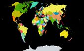 pic of political map  - This is a world political map based on a paper map of Cartography company Ukraine - JPG