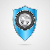 picture of combinations  - Protection blue shield with the combination lock - JPG