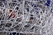 picture of barbed wire fence  - barbed wire fence in wire mesh fence - JPG
