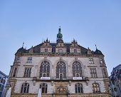 image of city hall  - Halle an der Saale city hall facade - JPG