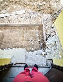Постер, плакат: Looking Down At The Construction Site