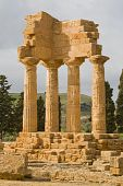 Ruins Of Castor And Pollux Temple In Agrigento.