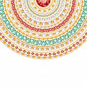 pic of emerald  - Colorful round jewels background - JPG
