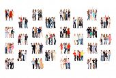 stock photo of foursome  - United Company Business Picture  - JPG