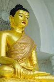 foto of budha  - Budha statue red lips of a town within Thailand - JPG