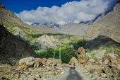 foto of karakoram  - Idyllic of mountain peak Northern area of Pakistan - JPG