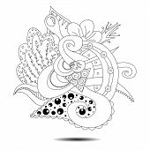 foto of card-making  - Hand drawn tribal doodle element - JPG