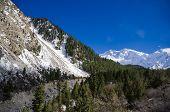 stock photo of karakoram  - Idyllic of mountain peak Northern area of Pakistan - JPG