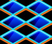 stock photo of cell block  - Bright urban futuristic cells seamless pattern - JPG