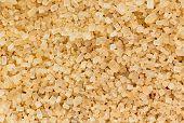 picture of sugar  - Granules of brown sugar macro shot  - JPG