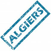 picture of algiers  - Vector blue rubber stamp with city name Algiers - JPG