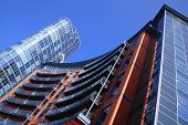 picture of skyscrapers  - New modern and futuristic apartment flats and office block skyscraper in Portsmouth - JPG