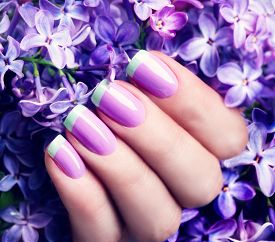 picture of nail paint  - Manicured nails Nail Polish art design - JPG